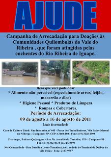 Campanha de Arrecadação para doações às Comunidades Quilombolas