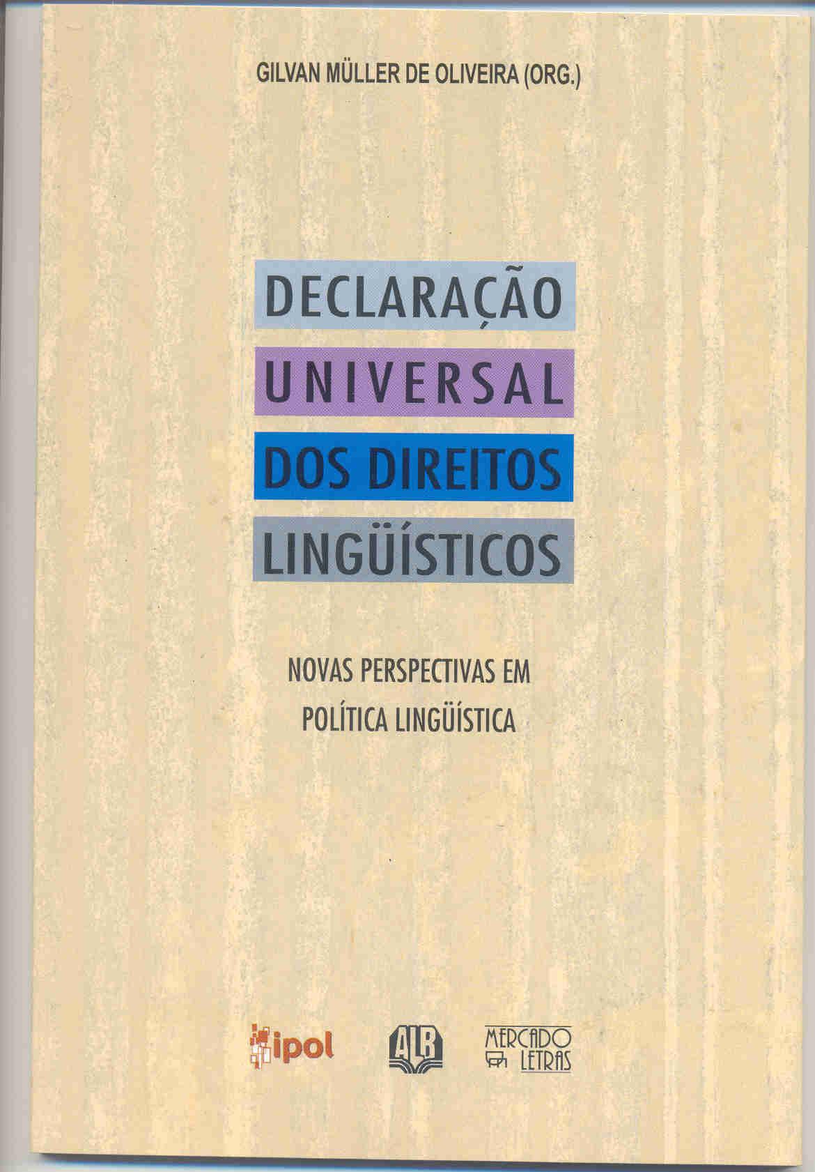 Declaração universal dos direitos lingüísticos – Novas perspectivas em política lingüística